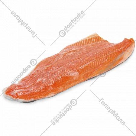 Рыба «Форель» филе на коже, мороженая, 1 кг., фасовка 1.6-2.1 кг