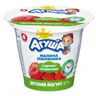 Йогурт «Агуша» земляника, малина 2.7 %, 90 г