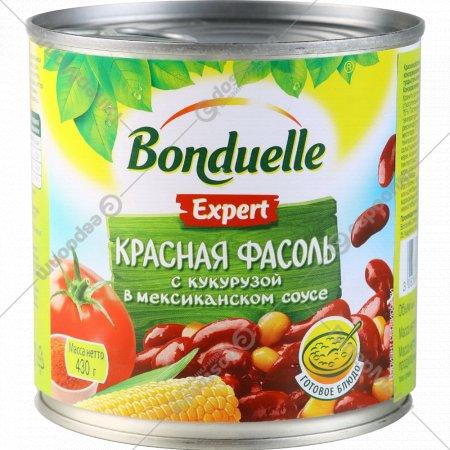 Фасоль красная с кукурузой «Bonduelle» в мексиканском соусе, 430 г.
