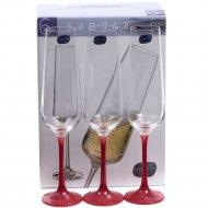 Набор бокалов для шампанского «Bohemia Crystal» Sandra, 200 мл
