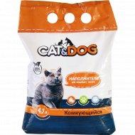 Наполнитель комкующийся «Сat&Dog» для кошачьего туалета, 2.5 кг.