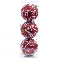Набор елочных шаров «Belbohemia» NY1132, 7 см, 3 шт