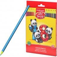 Пластиковые цветные карандаши «Erich Krause» 18 цветов.