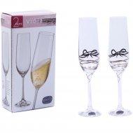 Набор бокалов для шампанского «Bohemia Crystal» Viola, 190 мл