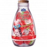 Маска для лица «Purederm» йогуртовая, с ароматом клубники, 15 г
