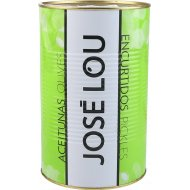 Оливки зеленые «Jose Lou» с косточками, 4,1 кг.