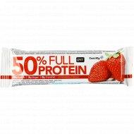Батончик «Full Protein Bar» клубника, 50% белка, 50 г.