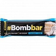Батончик глазированный «Bombbar» кокосовый торт, 40 г