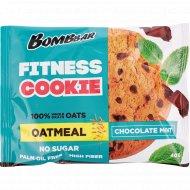 Печенье неглазированное овсяное «Bombbar» шоколад - мята, 40 г