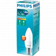 Лампа «Philips» LEDCandle 6.5-60W E27 827 230V B38N.