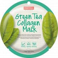 Маска для лица «Purederm» с зеленым чаем и коллагеном, 18 г