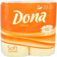 Бумага туалетная «Dona» двухслойная, 4 рулона.