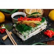 Суши-кейк с угрем и грибами шиитаке, 1/650.