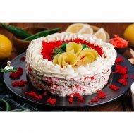 Суши-торт с красной рыбой, 1/1000.
