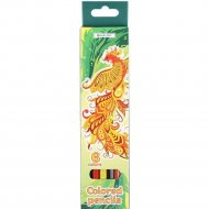 Карандаши «Darvish» шестигранный корпус «Жар–птица» 6 цветов.