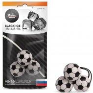 Ароматизатор подвесной «Футбол» черный лед, AFFO126.