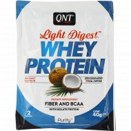 Протеин «QNT» WHEY LIGHT DIGEST, кокос, 40 г.
