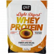 Протеин «QNT» WHEY LIGHT DIGEST, крем-брюле, 40 г.