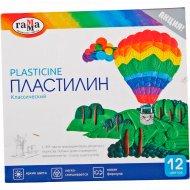 Пластилин Гамма «Классический», 12 цветов, 240г, со стеком.