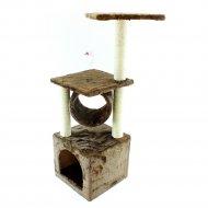 Домик- когтеточка для кошек, 30х30х90, SIPL ZW6.