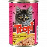 Корм для взрослых кошек «Tropi» в соусе с курицей, 415 г.
