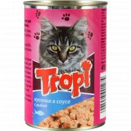 Корм для взрослых кошек «Tropi» в соусе с рыбой, 415 г.