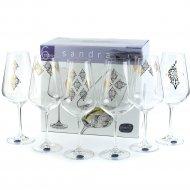 Набор бокалов для воды «Bohemia Crystal» Sandra, 550 мл