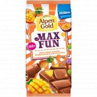 Шоколад молочный «Alpen Gold Max Fun» 160 г.