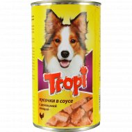 Корм для взрослых собак «Tropi» в соусе с птицей, 1250 г.