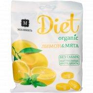 Карамель леденцовая «Малвикъ Diet» лимон и мята, 50 г.