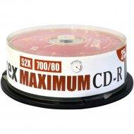 Компакт-диск CD-R «Mirex» MAXIMUM, Cake box, 700 Мб, 25 шт.