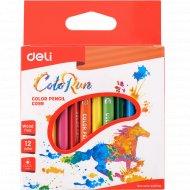 Набор карандашей цветных «Deli» 12 цветов.