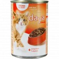 Корм для взрослых кошек «Daya Classic» говядина, 400 г.