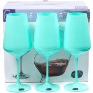 Набор бокалов для вина «Bohemia Crystal» Sandra Mint, 6 штук, 450 мл