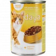 Корм для взрослых кошек «Daya Classic» с мясом птицы и печенью, 400 г.
