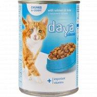 Корм для взрослых кошек «Daya» Classic с лососем и тунцом, 400 г.