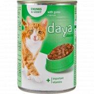 Корм для взрослых кошек «Daya» с дичью, 400 г.