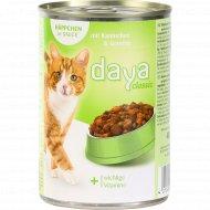 Корм для взрослых кошек «Daya» с кроликом и овощами, 400 г.