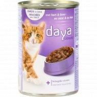 Корм для взрослых кошек «Daya» с сердцем и печенью, 400 г.