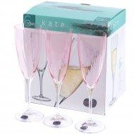 Набор бокалов для шампанского «Bohemia Crystal» Kate, 220 мл