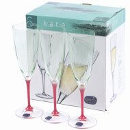 Набор бокалов для шампанского «Bohemia Crystal» Kate, 6 шт, 220 мл