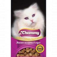 Корм влажный «Chammy» для кошек, мясное ассорти в соусе, пауч, 85 г.