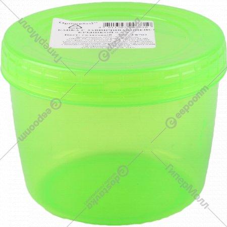 Банка с завинчивающейся крышкой «Optimplast» 0.5 л (цвет - прозрачно-салатовый).