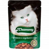 Корм влажный «Chammy» для кошек, кролик, индейка в соусе, 85 г.