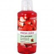 Пена для ванн «Fresh Juice» клубника и красная восковница, 1 л.
