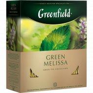 Чай зеленый «Greenfield» Green Melissa, 100х1.5 г