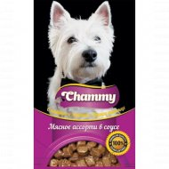 Корм влажный «Chammy» для собак, мясное ассорти в соусе, 85 г.