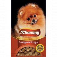Корм для собак «Chammy» с говядиной в соусе, 85 г.