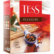 Чай чёрный «Tess» Pleasure шиповник, яблоко, 100 пакетиков.