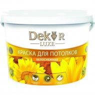 Краска «Dekor» ВД-АК-216, для потолков, белоснежный, 7 кг